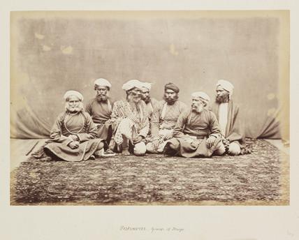 'Peshawur - Group of Thugs', c 1865.