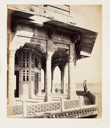 'The Fort, Exterior of the Zendua, Agra', c 1865.