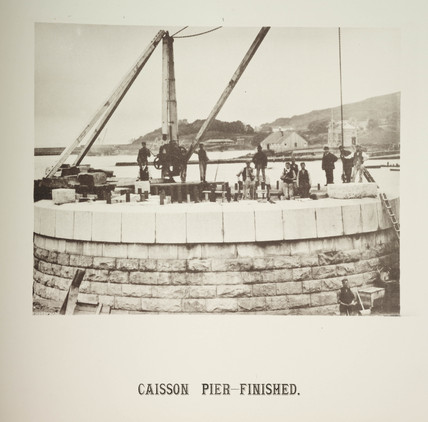'Caison Pier Finished', 1885.