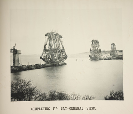 'Completing 1st Bay - General View', 1887.