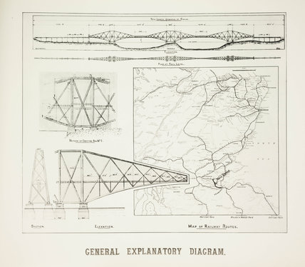 Plans for the Forth Railway Bridge, 1889.