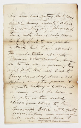 Letter, c 1888
