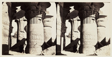 'Koum Ombos - Columns with Palm-leaf Papyrus Capitals', 1859.