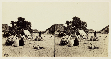 'Encampment Under a Doum Palm', 1859.