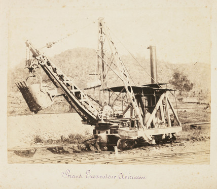 American earth-moving machine, c 1885.