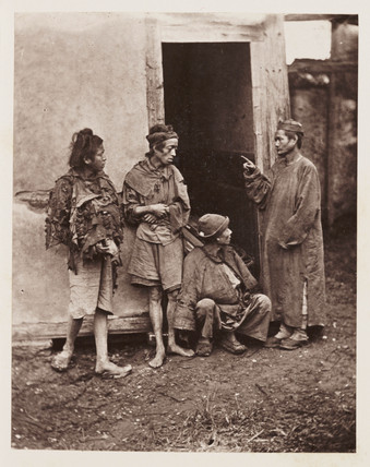 'Beggars', c 1871.
