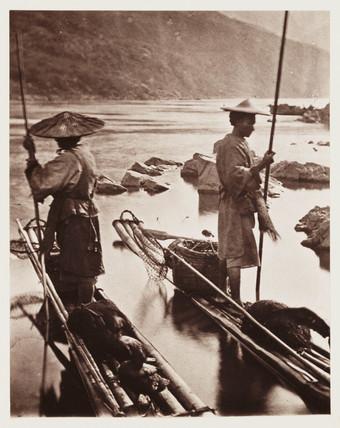 'Fishing With Cormorants', c 1871.