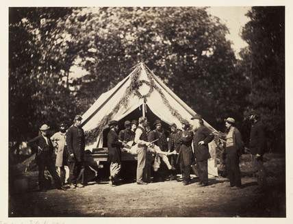 'Gettysburg Field Hospital', Pennsylvania, USA, July 1863.