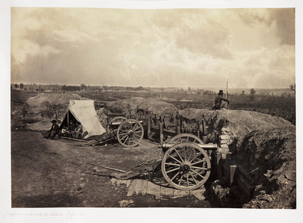 'Confederate defensive works around Atlanta, Georgia', 1864.