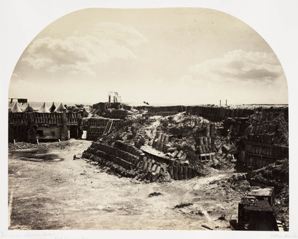 Interior view of Fort Sumter, Charleston Harbour, South Carolina, USA, 1866.