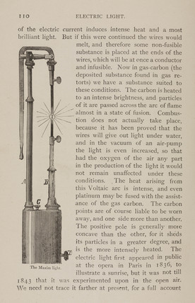The Maxim light, 1880s.