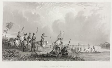 'De Soto, Tampa Bay, Florida, 1539.'