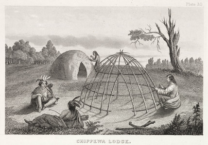 'Chippewa Lodge', North America, 1855.