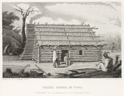 'Creek House in 1791', North America.