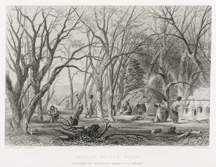 'Indian Sugar Camp', North America, 1847.