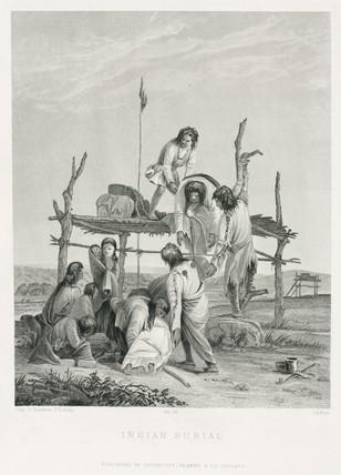 'Indian Burial', USA, 1847.