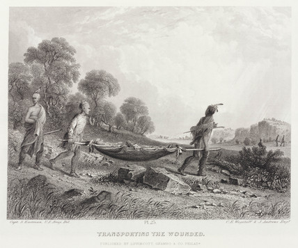 'Transporting the Wounded', North America, 1847.