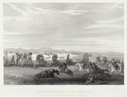 'Emigrants Attacked by the Comanches', North America, 1847.