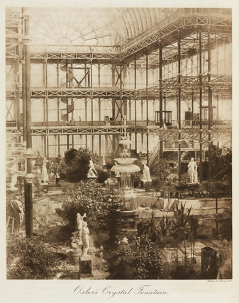 Osler's Crystal Fountain, the Crystal Palace, Sydenham, London, 1911.