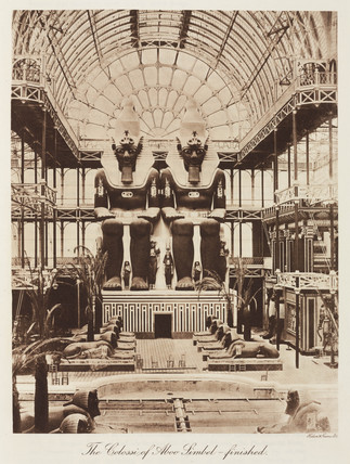 Abu Simbel colosi, the Crystal Palace, Sydenham London, 1911.