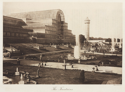 Fountains at the Crystal Palace, Sydenham, London, 1911.