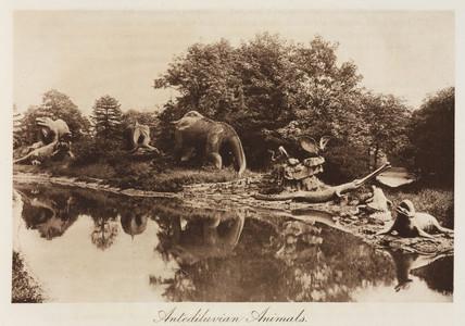 Dinosaurs, Crystal Palace Park, Sydenham, London, 1911.