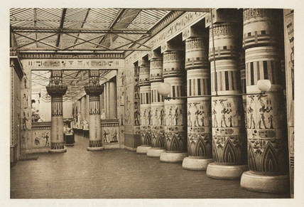 Egyptian interior, the Crystal Palace, Sydenham, London, 1911.
