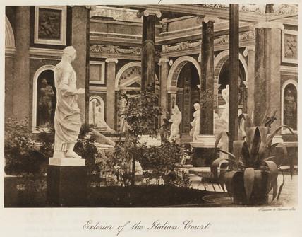 Italian Court, the Crystal Palace, Sydenham, London, 1911.
