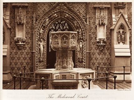 Medieval Court, the Crystal Palace, Sydenham, London, 1911.