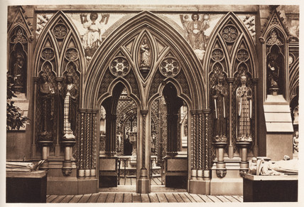Medieval interior, Crystal Palace, Sydenham, London, 1911.