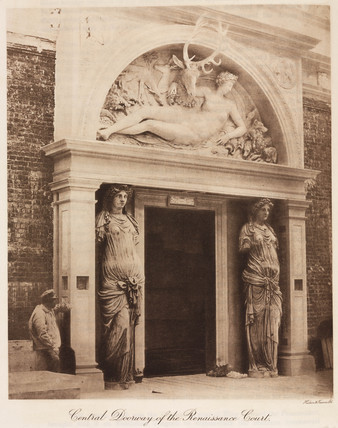 Entrance to the Renaisance Court, the Crystal Palace, Sydneham, 1911.
