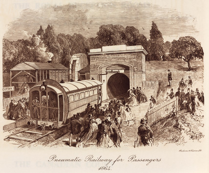 'Pneumatic Railway for Passengers, 1864.'