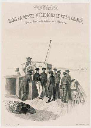 Sailors on board ship, c 1837.