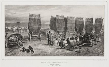 Halt of a Moldavian coal caravan, Besarabia, 5 August 1837.
