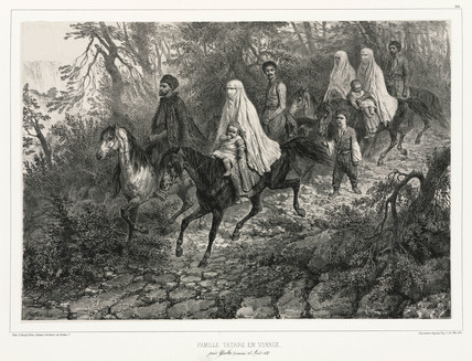 Tatar family travelling near Yalta, Crimea, 15 August 1837.