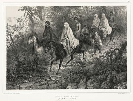 Tatar family travelling near Yalta, Crimea, 15 August 1837.