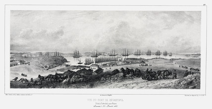 The Port of Sebastopol and the Black Sea Fleet, Crimea, c 1837.