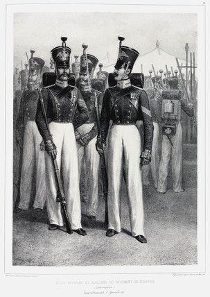 Soldiers of the Volhynie Regiment, (Imperial Guard),  1837.