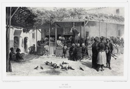 A cafe in Smyrna, Turkey, 9 November 1837.