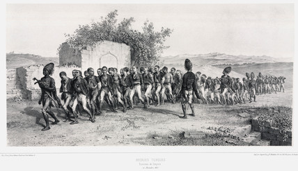 Turkish recruits near Smyrna, Turkey, 10 November 1837.