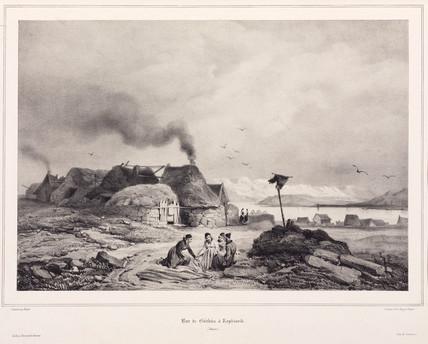 Scene in Reykjavik, Iceland, 1835-1836.