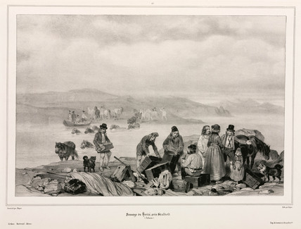 Crossing the River Hvita, near Skalholt, Iceland, 1835-1836.
