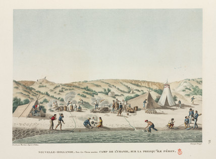 French sailors at camp, New Holland, 1817-1820.