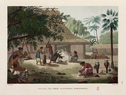 Domestic scene, Kupang, Timor, 1817-1820.