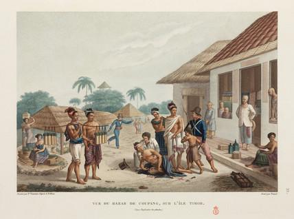 A stabbing in the market at Kupang, Timor, 1817-1820.