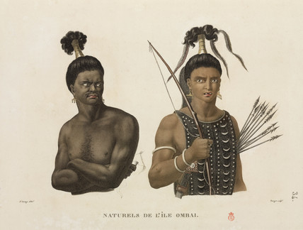 Men from the island of Ombai, 1817-1820.