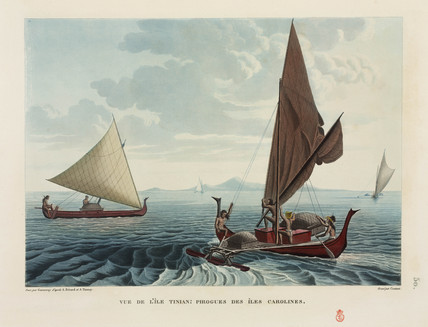 Canoes of the Caroline Islands, 1817-1820.