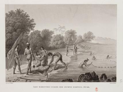 Fishing, Mariana Islands, 1817-1820.