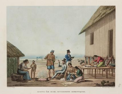Domestic occupations, Agagna, Guam, 1817-1820.