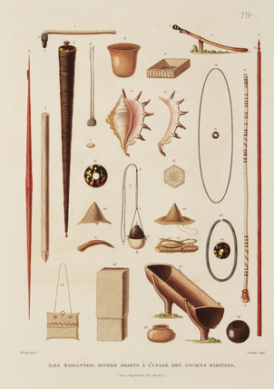 Artefacts from the Mariana Islands, 1817-1820.